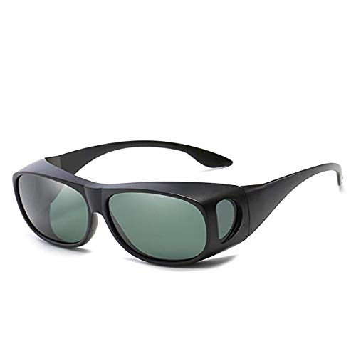 BOOLAVARD 2 PACK HD Night Day Vision Driving Wrap Around Anti Glare Sunglasses with Polarized Lens for Man and Women