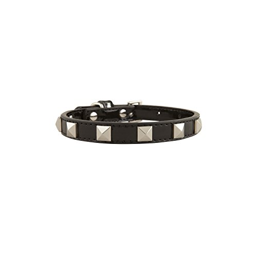 The Stud Dog Collar, Black L (Xtreme Custom Green)