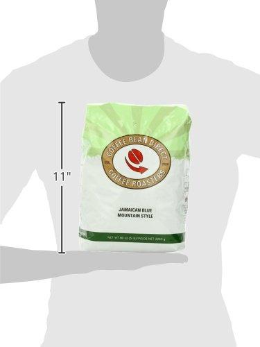 Coffee Bean Direct Jamaican Blue Mountain Style, Whole Bean Coffee, 5-Pound Bag