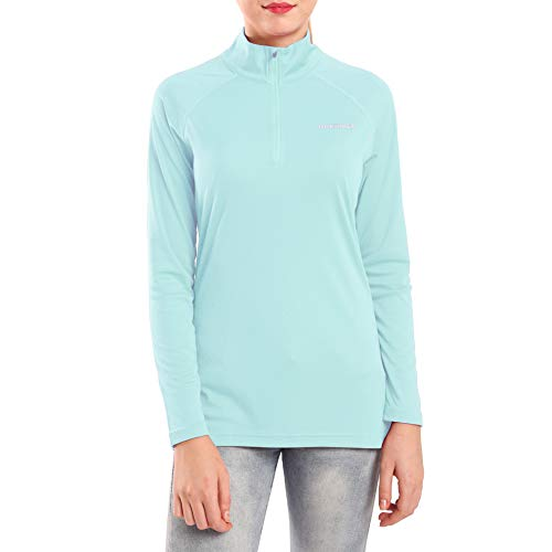 Ogeenier Women's 1/4 Zip Pullover UPF 50+ UV Sun Protection Long Sleeve Shirts Outdoor Running Athletic Shirts (Zip 1/4 Microfiber Pullover)