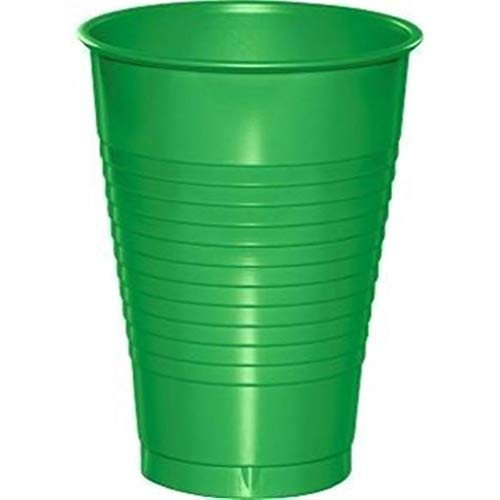 hersrfv home Green 12oz Plastic Cups 20 Per Pack