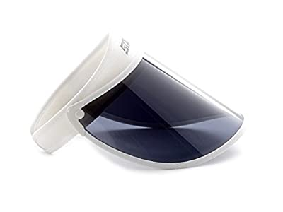 Sovis White Extended Length 97.2% & up Uv Protection Solar Visor Worldwide Patented