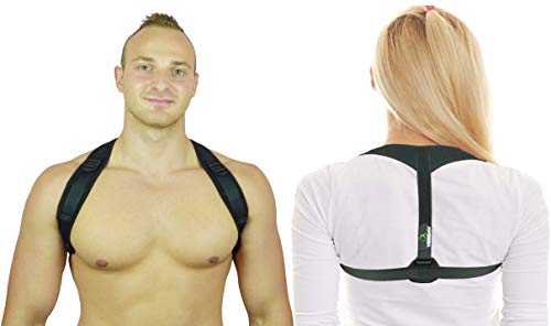 Veridav Posture Corrector for Women and Men with Comfortable Underarm Pads for Long-Term Posture Improvement - Physical Posture Brace Support for Shoulder, Neck and Back Pain Relief