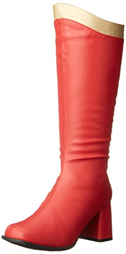 [Ellie Shoes Women's 300 Super Combat Boot, Red/Gold, 7 M US] (S Costume Ideas For Women)
