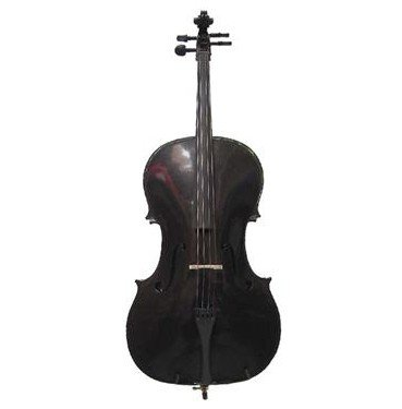 Merano MC100BK 4/4 Full Size Black Student Cello with Bag and Bow + Free Rosin