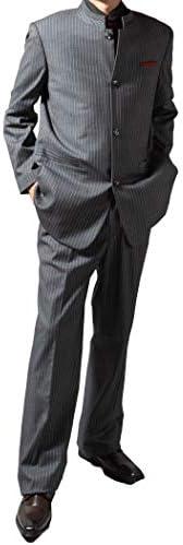 マオカラースーツ メンズ パーティースーツ 大きいサイズ 秋冬 ドレススーツ ステージ衣装 結婚式 指揮者 119881 6.7.8.9.10