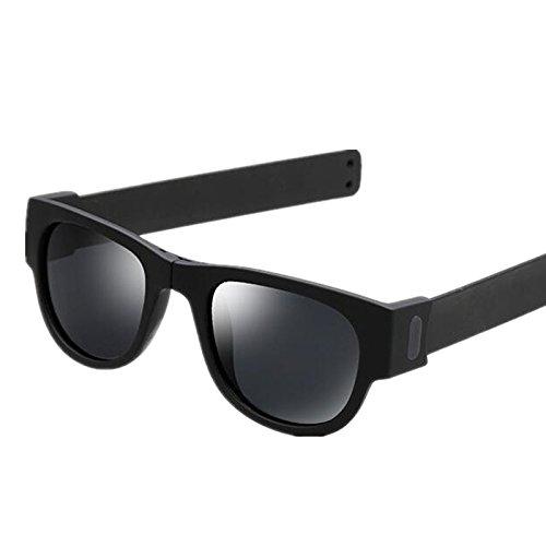 4e62bde4df1ff Creative Foldable Men Women Sunglasses Wristband Slappable Polarized Sun  Glasses Oculos De Sol Masculino Snap Bracelet Glasses Pink  Amazon.in   Clothing   ...