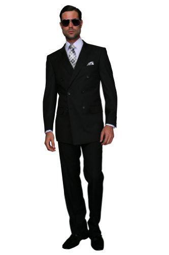 DOUBLE BREASTED SUIT - Super 150's Mens Italian Suits