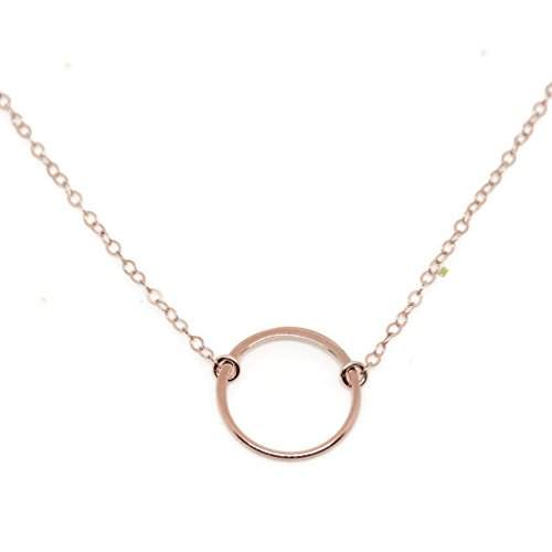 Karma Open Circle Necklace, Dainty 14k Rose Gold Filled, Won't Fade, by Wild Moonstone - 14k Gold Small Circle