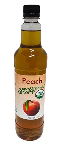 (Joe's Syrup Organic Flavored Syrup, Organic Peach, 750 ml )