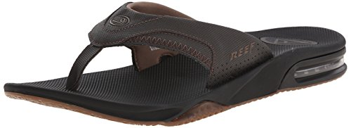 Reef Men's Fanning Speed Logo Sandal, Vintage Brown, 13 M US