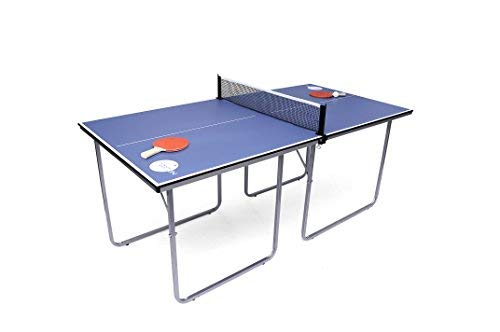 Haxton Midsize Compact Table Tennis Table Great for Small Spaces and Apartments – Multi-Use Free Standing Table - Compact Storage Fits in Most Closets - Net Set Included - No Assembly Required