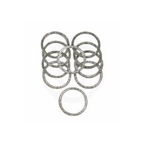 (James Gasket Exhaust Port Gasket Kit - Copper Crush Ring Gaskets and Heavy-Duty Hex Nuts)
