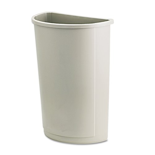 Rubbermaid FG352000BEIG Untouchable Container, Half-Round Base, 21 gal Capacity, Beige