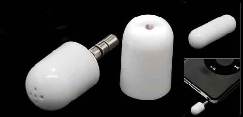 White Mini Microphone for iPhone 3G 3GS iPod 2nd 3rd Gen classic Video