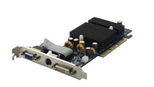 Agp Graphics Board - PNY VCG62256AEB GeForce 6200 256MB DDR 64-bit DVI+ VGA AGP Graphics Card - Retail