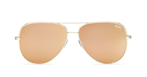 Quay X Desi High Key Mini Sunglasses (Gold, - High Key Sunglasses