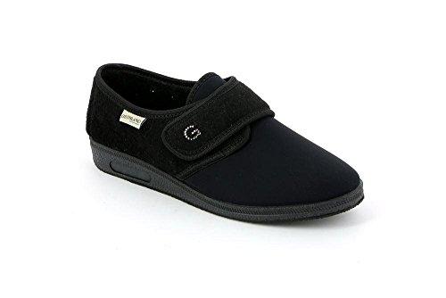 40 PA0004 Pantofola Donna KAMP Nero Grunland qYPBwXFX