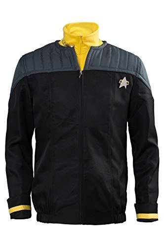 Star Trek Red Shirt Kids Costumes - Ya-cos Men's Suit Jack+Badge+Shirt Nemesis Uniform