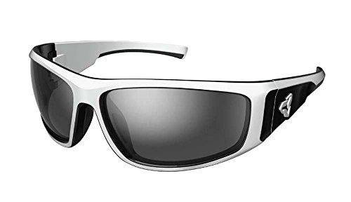 Ryders Eyewear Howler White/Black with Grey/Silver Flash Mirror Polarized - Polarized Grey Black Mirror Silver