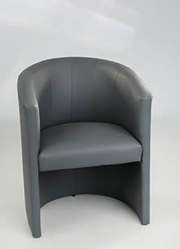 Design-Cocktailsessel-Sessel-Clubsessel-Loungesessel-Club-Mbel-Brosessel-Praxismbel-grau-Neu