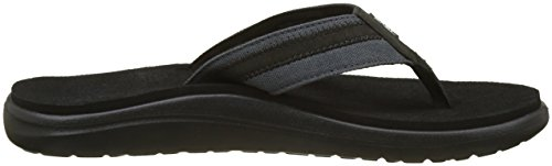 Teva Men's M Voya Canvas Flip Flops Black (Dark Shadow) XkLpiHem