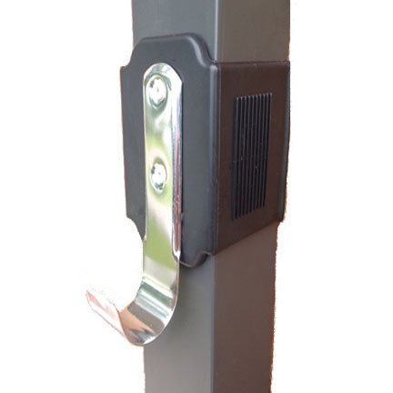 2 ea. Black Clip on pole holder for lanai's, screen enclosures and pool cages
