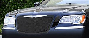 T-Rex Grilles 51433 Upper Class Small Formed Mesh Steel Black Finish Replacement Grille for Chrysler - Mesh Series Hybrid Grille
