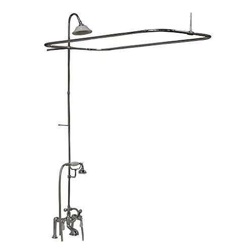 (Barclay 4063-PL-CP Universal Code Rectangular Shower Unit with Elephant Spout and Lever Handles)