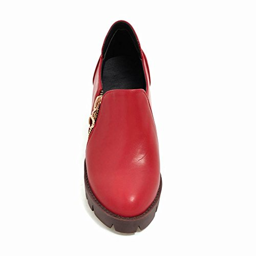 Latasa Block Shoes Ankle Heel Red All Boots Seasons Womens qqr5wg