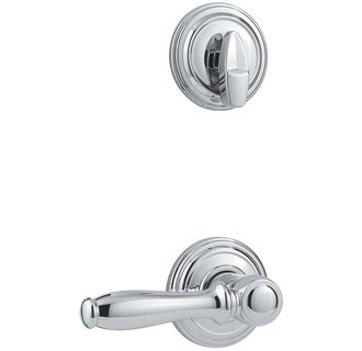 Kwikset 966ADL-US26 Polished Chrome Ashfield Lever Single Cylinder Handleset (Interior Side - Ashfield Chrome Single