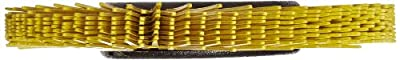 Scotch-Brite(TM) Radial Bristle Brush, Cubitron/Aluminum Oxide, 6000 rpm, 6 Diameter x 1/2 Width, 80 Grit (Pack of 1)