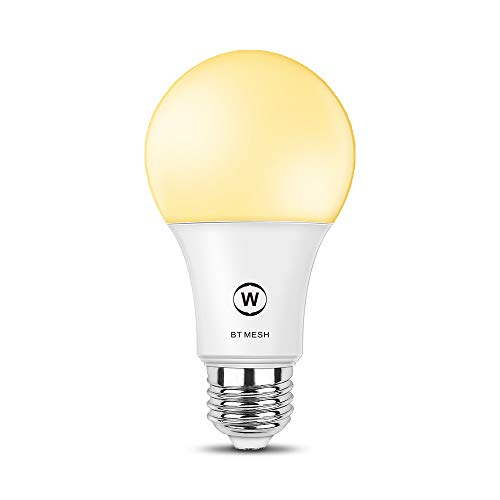MagicConnect Bluetooth Mesh Dimmable White Light Bulb, No Hub Required, Household Lighting (Hub Required for Working with Alexa and Google Home, Hub Will be Ready Soon and Sold Separately)