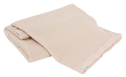(Creswick All-Natural 100-Percent Australian Merino Wool Machine Washable Oversized Blanket, King, Natural)