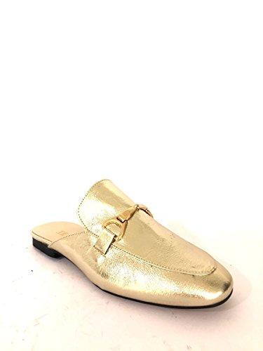ZETA SHOES - Mocasines de Piel para mujer dorado