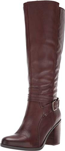 (Naturalizer Women's Kelsey Wide Calf Chocolate Leather 9 M US)