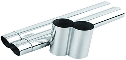 - Quality Importers Trading 2-Cigar Tube, Stainless Steel