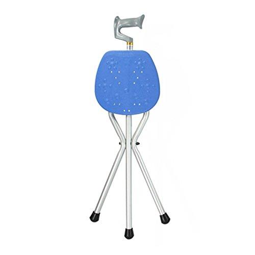 SAILUN Gehstöcke mit Sitzfläche, Aluminium klappbare Krücken mit Dreifuß, Rutschsicher und standfest für Alten, Behinderte, Mit eingeschränkter Mobilität