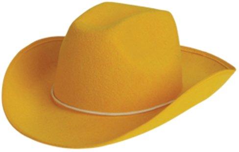 Amazon.com  Adult Size Yellow Felt Cowboy Hat  Clothing 0ded2b96953