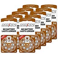 Trust the name you know - Rayovac offers fresh and powerful, mercury-free, zinc-air hearing aid batteries. Stock up with 10 packs of 8 batteries (80 total batteries) and keep your devices powered up longer. Made in the USA - try Rayovac batte...