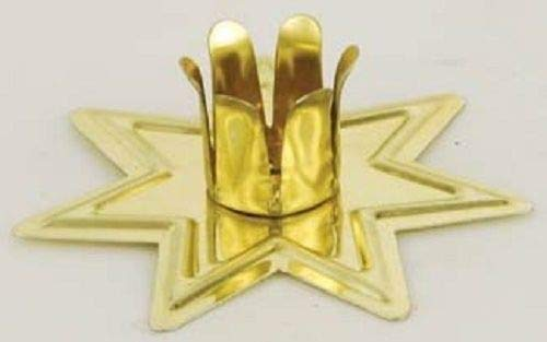 Gemstone Candle Holders - Gold Fairy Star Chime Candle Holder for 4