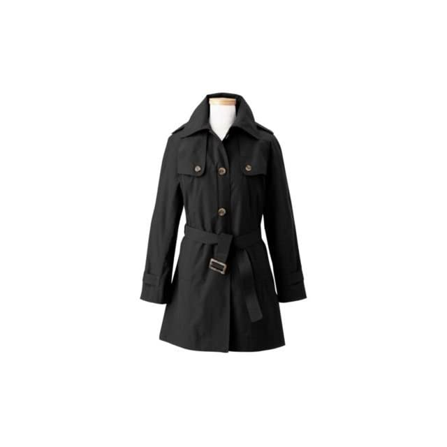 TravelSmith Womens Plus Size Waterproof Belted Trench