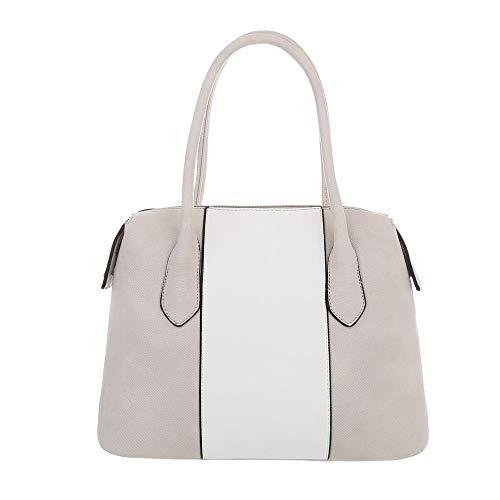 Grau Ital Grey Donna design Size Weiß sintetica One tracolla 5f4afqg