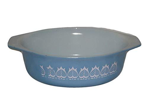 Vintage Pyrex Oval Blue & White Tulip 1 1/2 Quart Casserole Baking Dish