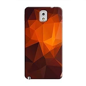 Cover It Up - Dark Orange Pixel Triangles Samsung Galaxy Note 3 Hard Case