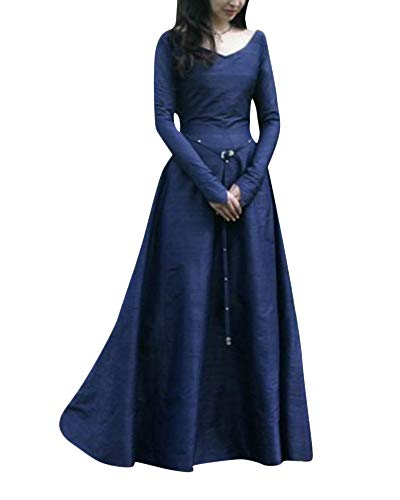Cosplay Fancy Maxi Donne Abito Dress PengGengA Blu Abiti Costume Medievale P4wpq