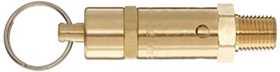 "Kingston 112CSS Series Brass ASME-Code Safety Valve, 100 psi Set Pressure, 1/4"" NPT Male from Kingston Valves"