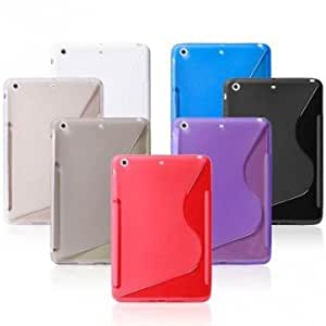 Fsahion And Brief S Grain TPU Protective Case Cover For iPad Mini 2 --- Color:White
