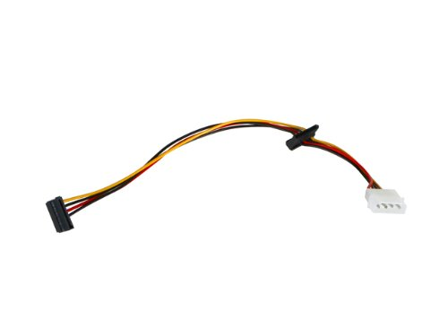 iStarUSA Power Cable 1 Molex to 2 SATA 90 Degree ATC-Y-M2S-90