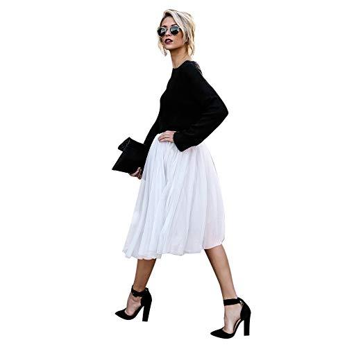 (iYBUIA Girls' Favorite Fashion Skirt High Waist Solid Color Skirt)